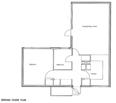 open floor plans 1 bedroom 1 bedroom bungalow floor plans