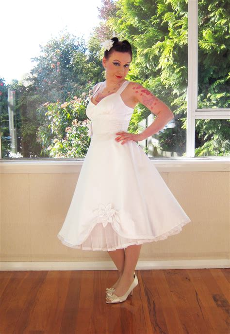 Pinup Style Wedding Dresses by Wedding Dress 50s Rockabilly Pin Up Skirt Style