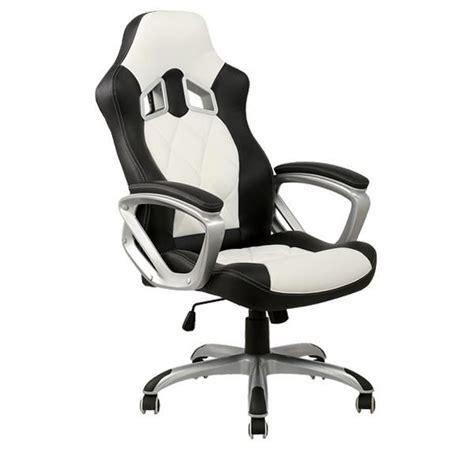 Chaise De Bureau Racing chaise de bureau blanche et racing achat vente