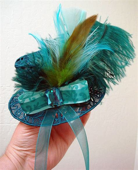 teal fascinator hat 17 best images about miniature hats etc on pinterest