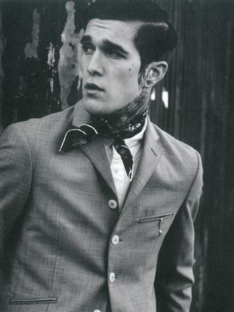 neck tattoo with suit neck bandana men s style royal fashionist