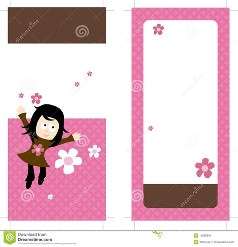 two sided rack card template 4x9 two sided rack card vector illustration