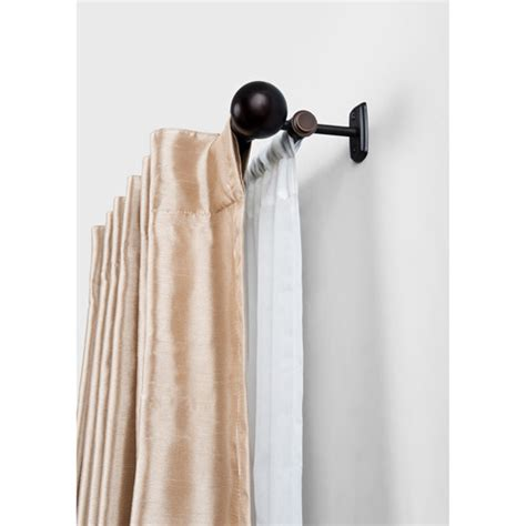 double hung curtain rods better homes and gardens double curtain rod oil rubbed