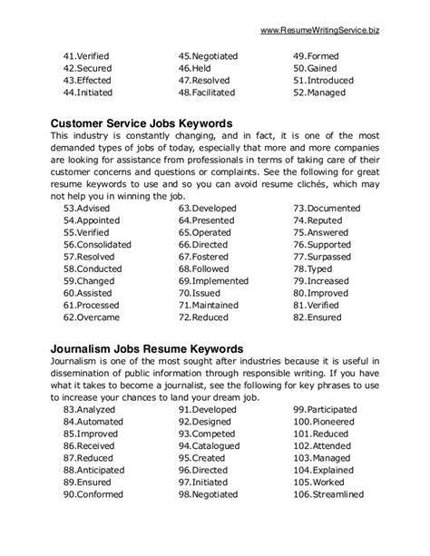 Keywords To Use On A Resume by Ultimate List Of 500 Resume Keywords