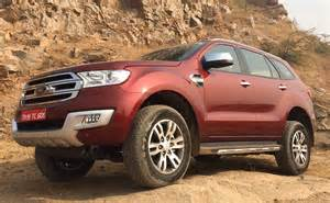 Ford Price 2016 Ford Endeavour Launched In India Prices Start At Rs