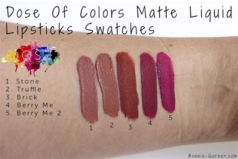 Dose Of Colours Liquid Lipstick Berry Me 2 dose of colors matte liquid lipsticks my review bonnie garner skincare makeup nails