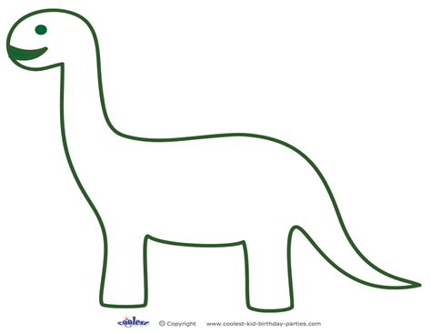 dinosaur templates clipart best
