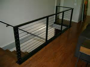 Steel Cable Handrail Interior Railing Metal Fabrication Aluminum Fabrication