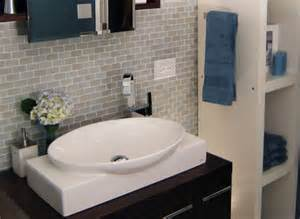 how to reinvent your kitchen or bath with subway tile small bathroom makeover christinas adventures