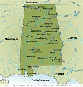 alabama map state map of alabama