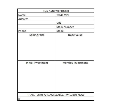 4 Square Worksheet Resultinfos Car Sales Worksheet Template