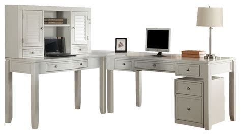 desk l white boca modular l shaped desk with hutch and rolling file in