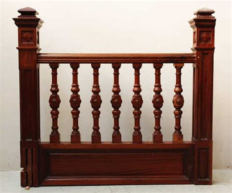Mahogany Banister by Mahogany Newel Post And Staircase Late 19th Century