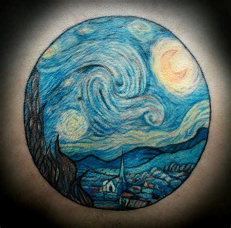 van gogh tattoo amazing true starry