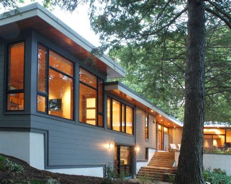 Contemporary House Siding Landscaping Deck Patio Split Entry Remodel Design