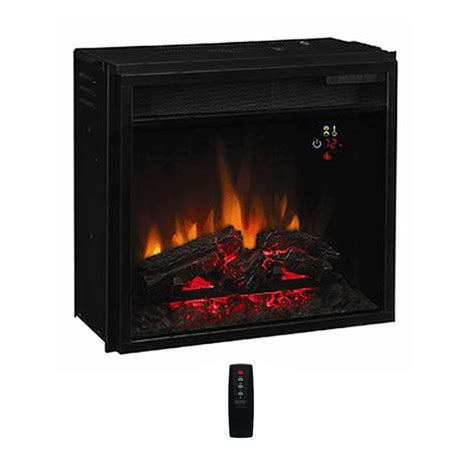 Electric Fireplace Insert Classic 18in Electric Fireplace Insert With Fixed Front And Backlit Display 18ef022gra