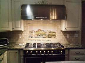murals for kitchen backsplash kitchen backsplash tile murals by paul studio by