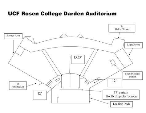 university auditorium plan darden auditorium