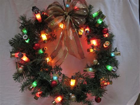 shotgun shell lighted christmas wreath