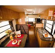 RV Interior Idea With Mini Kitchen Set Electric Stove Sink And