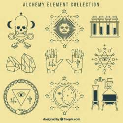alchemy symbols collection vector free