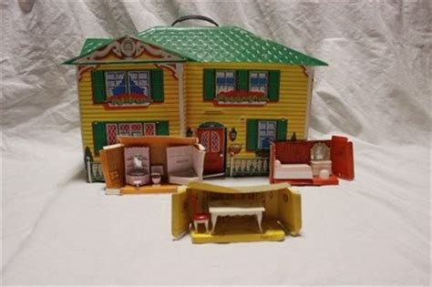 mattel doll houses mattel quot the sears quot vintage plastic dollhouse doll house furniture