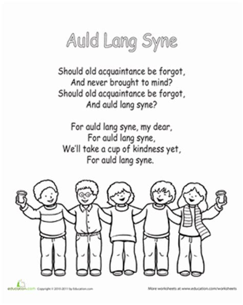printable lyrics auld lang syne burns night activities for kids new york loves kids