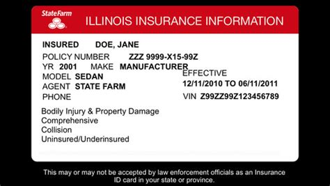 illinois auto insurance card template state farm pocket 174 on the app store on itunes