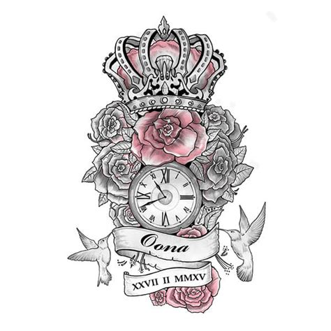rose and crown tattoo designs design artwork gallery custom design