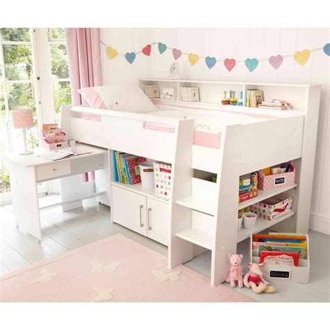 Small Mid Sleeper Bed by Reece Cabin Bed White Childrens Cabin Beds Beds For