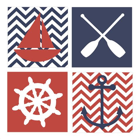 nautical theme regatta children s wall art by fieldandflower