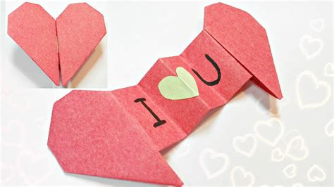 Origami Valentines Card - origami card thin