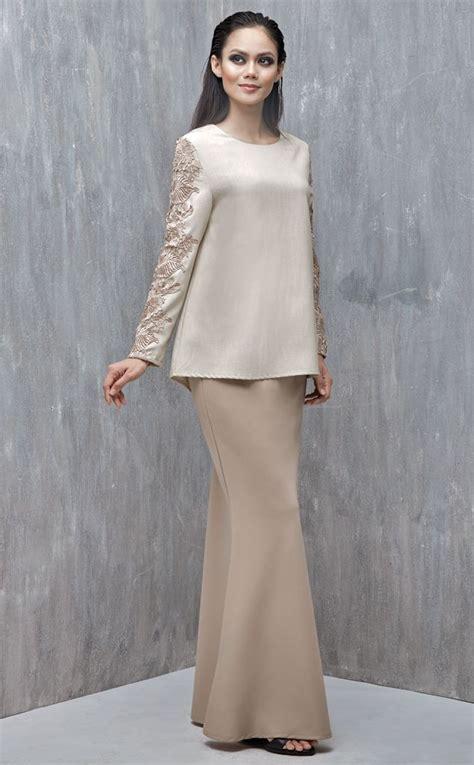 Baju Kurung Border Lace emel x iking longhorn modern a line baju kurung with lace this kurung