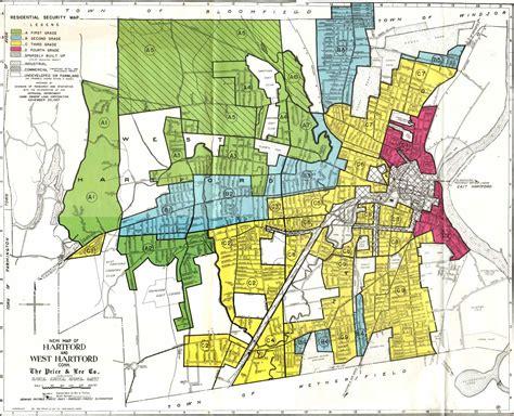 map of hartford ct the effect of redlining on the hartford metropolitan