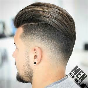view from back of pompadour hair style latest hairstyles for round faces men