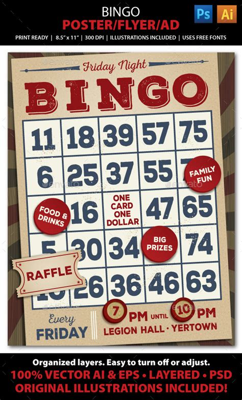 bingo event poster flyer or ad by juliefelton graphicriver