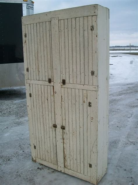 Wainscoting Cabinets by Antique Shabby Chic White 4 Door Cupboard Rustic Country