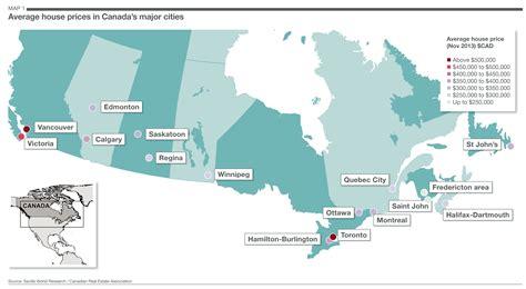 canadian map major cities savills uk canada s big cities