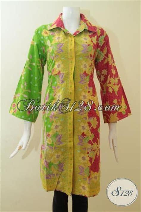 Baju Kerja Xl dress batik ukuran xl batik baju kerja modern dua motif unik busana batik print wanita karir