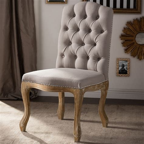 baxton studio hudson shabby chic rustic french cottage upholstered dining chair free shipping