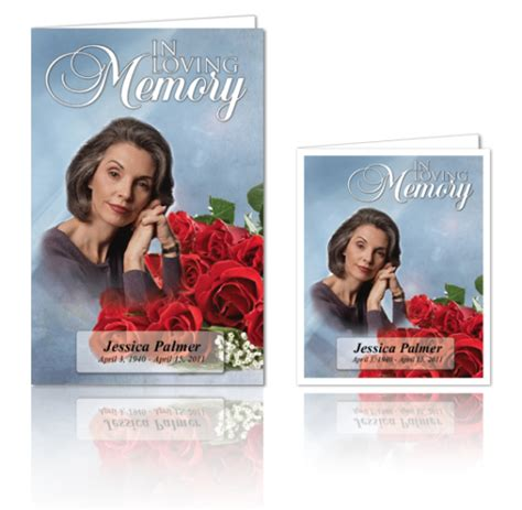 in memory cards templates in loving memory cards funeral program template