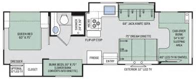 chateau floor plans chateau class c motorhomes floor plan 30d thor motor