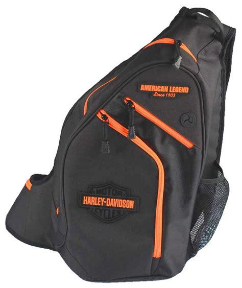 harley davidson neon orange sculpted bar shield sling backpack bp2017s orgblk ebay