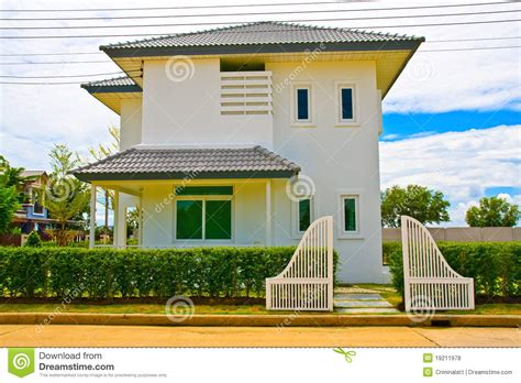 thai homes thai modern style house from front stock photo image