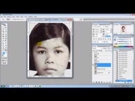 tutorial smudge retouch part 2 tutorial retouch ภาพขาว ดำ เป น ภาพส part 2 youtube