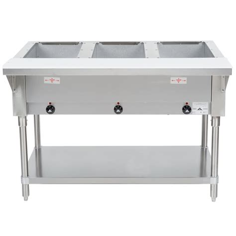 Steam Table Advance Tabco Hf 3 E Three Pan Electric Steam Table With