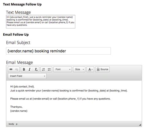 Booking Reminder Automation Servicem8 Help Booking Reminder Email Template