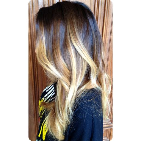 brunettes dramatic hair dramatic brunette to blonde balayage ombre color and curly