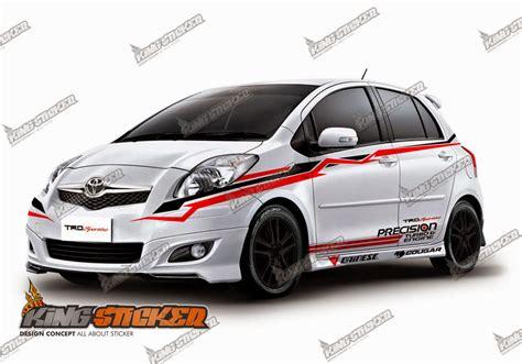 Sticker Sing Mobil Suzuki Sport Cutting Sticker Toyota Yaris King Sticker Bali