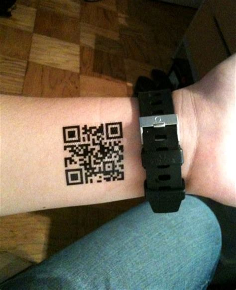 barcode tattoo ebay custom qr code tattoos by scott blake